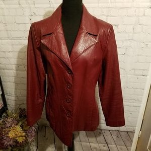 Wilson's Leather Burgandy Jacket